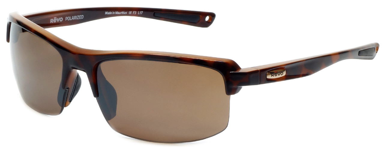 8255e151e339 REVO Designer Polarized Sunglasses Crux in Tortoise and Amber Lens ...