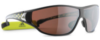 Adidas Polarized Sunglasses Tycane Pro-L in Matte Black & Lab Lime Lens