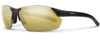 Smith Optics Parallel Max Designer Sunglasses in Matte Black with Polarized Gold Mirror /Ignitor Lens Set
