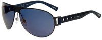 Chopard Designer Polarized Sunglasses SCHB83-627B in Matte Gunmetal with Blue Flash Lens