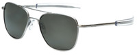 Randolph Designer Sunglasses Aviator AF156 in Matte Chrome with Polarized Gray Lens