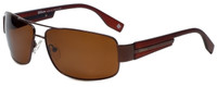 Wilson Designer Polarized Sunglasses More Win 2015 in Shiny Brown with Amber Lens