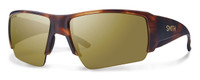 Smith Optics Captain's Choice Designer Sunglasses in Matte Havana with Polarized Bronze Mirror Lens