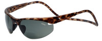Clic Sunglass II Tortoise Polarized Bi-Focal Reading Sunglasses