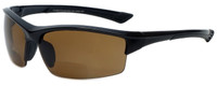 Calabria Sport Polarized Bi-Focal Safety Glasses UV Protection in Black-Amber