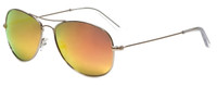 Vivid Polarized Aviator Sunglasses 790S in Gold with Orange Mirror Lens