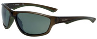 Timberland TB9045-96R Designer Polarized Sunglasses in Crystal Brown with Green Lens
