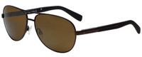 Timberland TB9058-49H Designer Polarized Sunglasses in Matte Brown with Brown Lens
