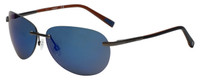 Timberland TB9117-09D Designer Polarized Sunglasses in Matte Gunmetal with Blue Flash Lens