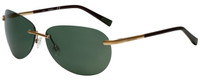 Timberland TB9117-33R Designer Polarized Sunglasses in Gold with Green Lens