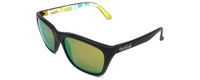 Bollé™™ Polarized Sunglasses 527-12050 in Matte Black with Green Mirror Lens