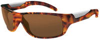 Bollé Polarized Sunglasses: Vibe in Shiny Tortoise with Amber Lens