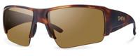 Smith Optics Captain's Choice Designer Sunglasses in Matte Havana with Polarized Bronze Lens