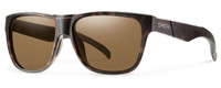 Smith Optics Lowdown Designer Sunglasses in Matte Tortoise with Polarized Brown Lens