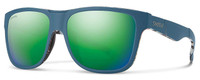 Smith Optics Lowdown XL Designer Sunglasses in Matte Corsair Ripped with Polarized Green Mirror Lens