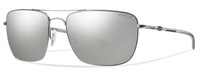 Smith Optics Nomad Sunglasses in Matte Silver with Polarized Platinum Lens