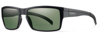 Smith Optics Outlier Designer Sunglasses in Matte Black with Polarized Grey Green Lens