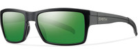 Smith Optics Outlier Designer Sunglasses in Matte Black with Polarized Green Sol-X Lens
