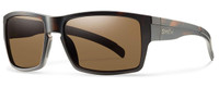 Smith Optics Outlier XL Designer Sunglasses in Matte Tortoise with Polarized Brown Lens