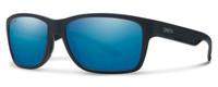 Smith Optics Wolcott Sunglasses in Black with Polarized Blue Mirror Lens