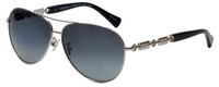 Coach Designer Sunglasses in Silver with Polarized Grey Lens