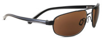 Serengeti Polarized Sunglasses 7769 in Satin Black with Amber Lens