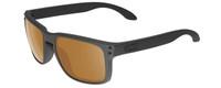 Oakley Designer Sunglasses Holbrook OO9102-98 in Matte Black with Polarized Bronze Lens