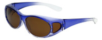 Calabria RS2866POL-2T Polarized Fit-Over Sunglasses with Rhinestones Medium Size