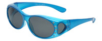Calabria RS8866POL Polarized Fit-Over Sunglasses with Rhinestones Medium Size