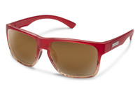 Suncloud Rambler Polarized Sunglasses in Red Tortoise Fade with Brown Lenses