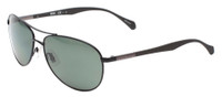 Hugo Boss Polarized Aviator Sunglasses B0824-0YZ2 in Black with Green Lens