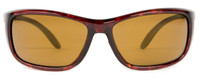 Reptile Designer Polarized Sunglasses Whiptail in Tortoise with Amber Lens