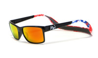 Hoven Eyewear MONIX in Black American Flag with Gloss Grey