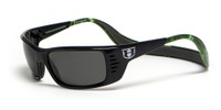 Hoven Eyewear Meal Ticket in Black Gloss  and Red