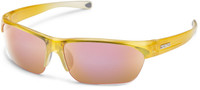 Suncloud Detour Polarized Sunglasses in Yellow Fade with Pink Mirror Lens