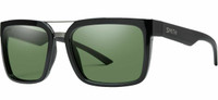 Smith Highwire ChromaPop Polarized Sunglasses in Black/Polarized Gray Green 56mm