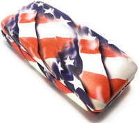 Calabria USA American Flag Hard Shell Eyeglass Case for Reading & Sun Glasses