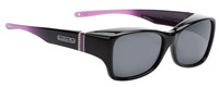 Jonathan Paul Fitovers Sunset Twilight Large Over Sunglasses Black Purple & Grey