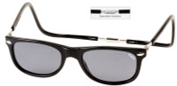 Clic Magnetic Sunglasses Ashbury-Wide in Black w/ Grey Lens