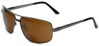 Grand Banks™ Polarized Bi-Focal Readers: 476BF in Gun-Metal & Amber