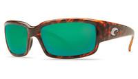 Costa Del Mar™ Polarized 580G Sunglasses: Caballito in Tortoise & Green Mirror Lens