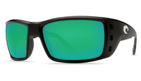Costa Del Mar™ Polarized 580G Sunglasses: Permit in Black & Green Mirror Lens