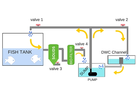 Hybrid Aquaponics System Instant Conversion To