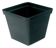 17.5cm Square Black Plant Pot (3.3 litres)