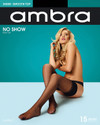 Ambra Sheer No Show Stay Up 15 Denier