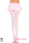 Music Legs 70 Denier Opaque Tights Baby Pink One Size