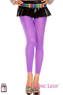 1662cdcbff9f2 Music Legs 70 Denier Opaque Footless Tights Purple One Size - The ...