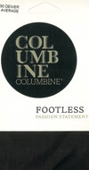 Columbine 50 Denier Footless Tights Black