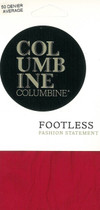 Columbine 50 Denier Footless Tights Red