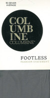 Columbine 50 Denier Footless Tights Mid Grey